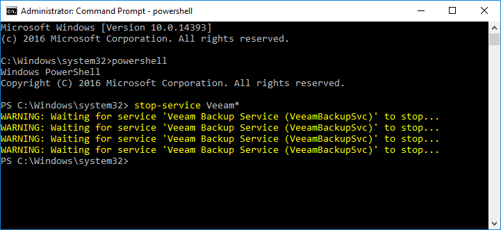 Stopping-Veeam-services-manually-using-PowerShell Veeam Supports vSphere 7 with Veeam Backup and Replication v10 patch 2