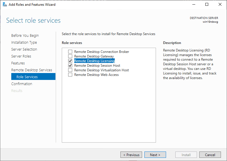 Add-remote-desktop-session-host-and-licensing Windows Server 2019 Remote Desktop Services without Domain
