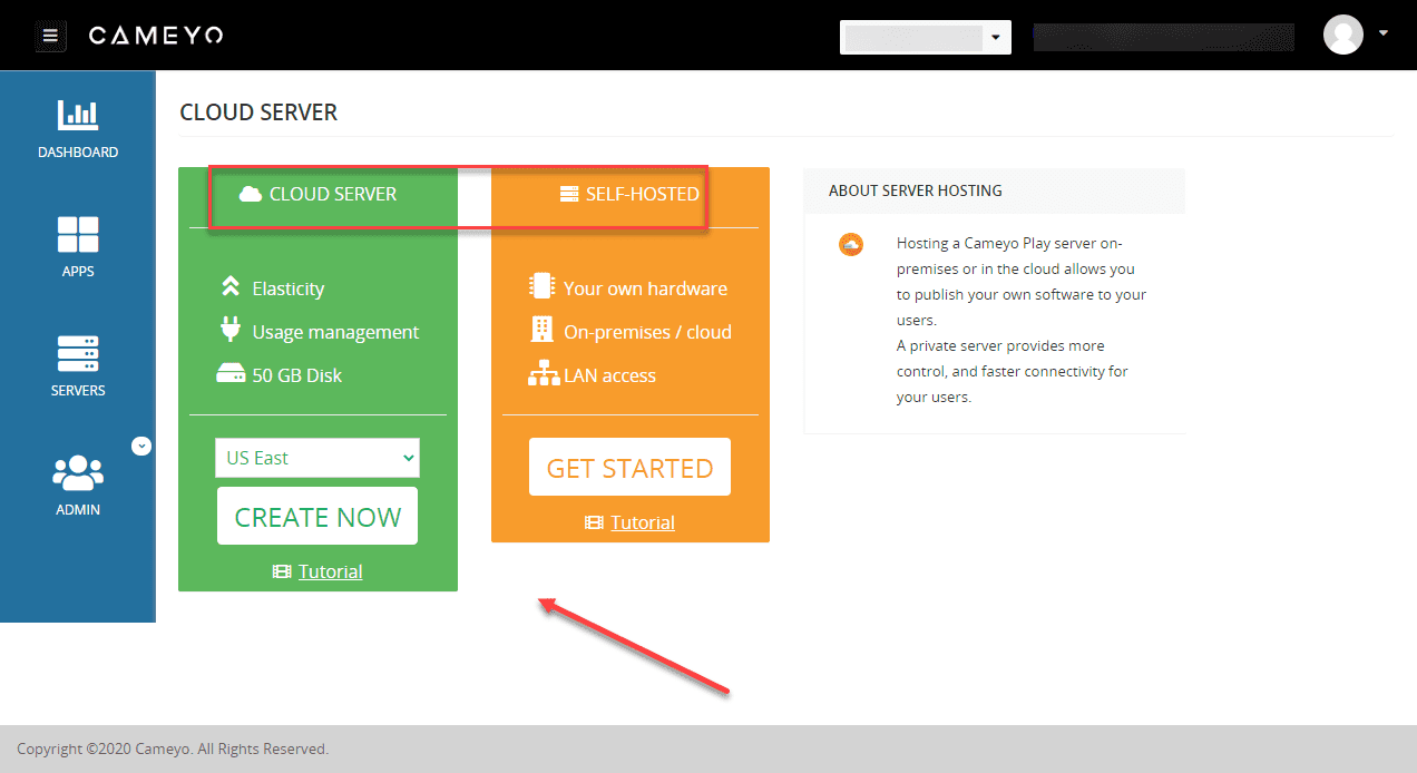 Choose-to-setup-a-Cameyo-cloud-instance-or-a-self-hosted-installation Cameyo - Easy Digital Workspace for Remote Workers