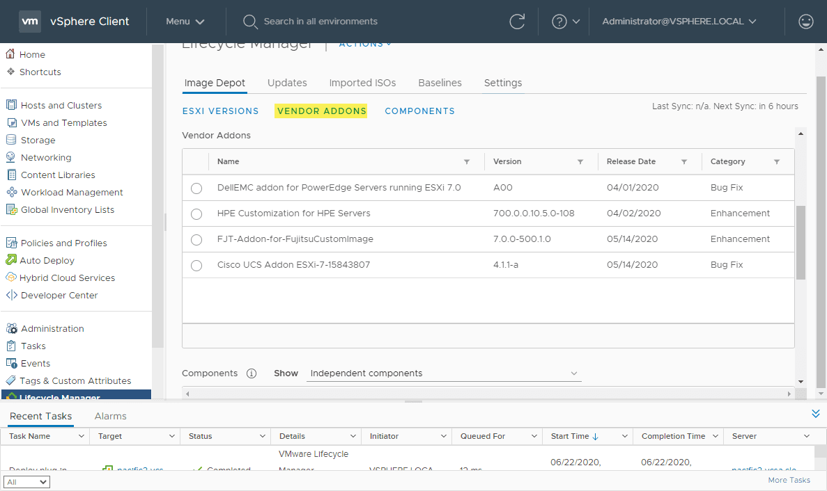 Exploring-the-vendor-addons-in-the-vSphere-Lifecycle-Manager