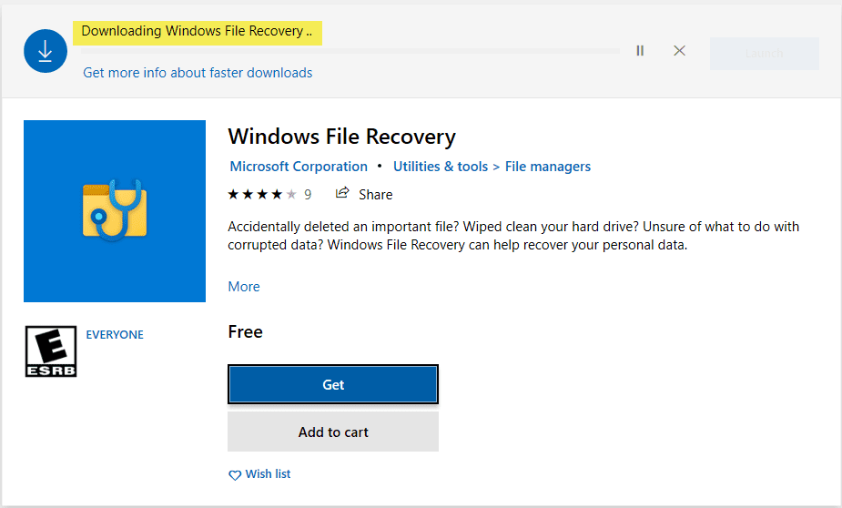 Install-the-new-Windows-File-Recovery-app-from-Microsoft-Store Windows 10 v2004 recover deleted files with Windows File Recovery App