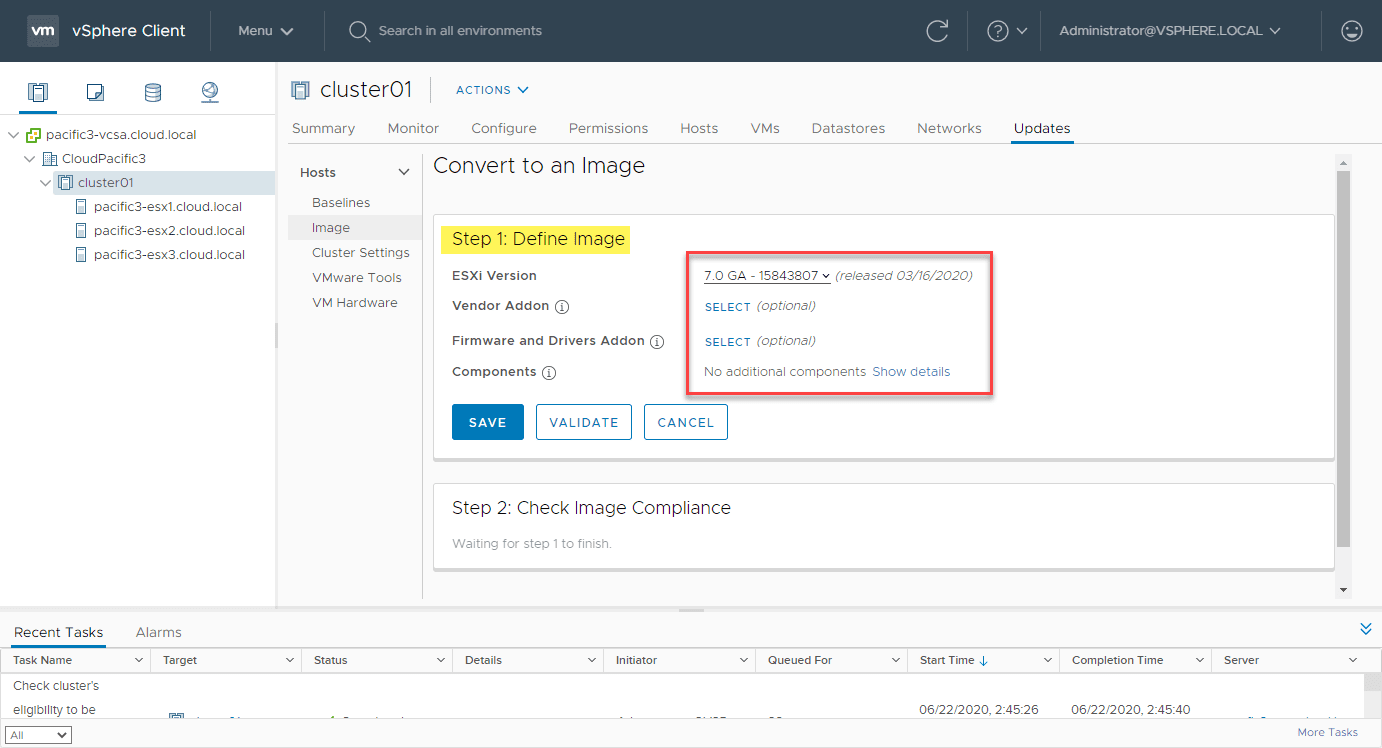 The-Convert-to-Image-step-allows-defining-your-ESXi-image-at-the-cluster-level What is vSphere Lifecycle Manager vLCM?