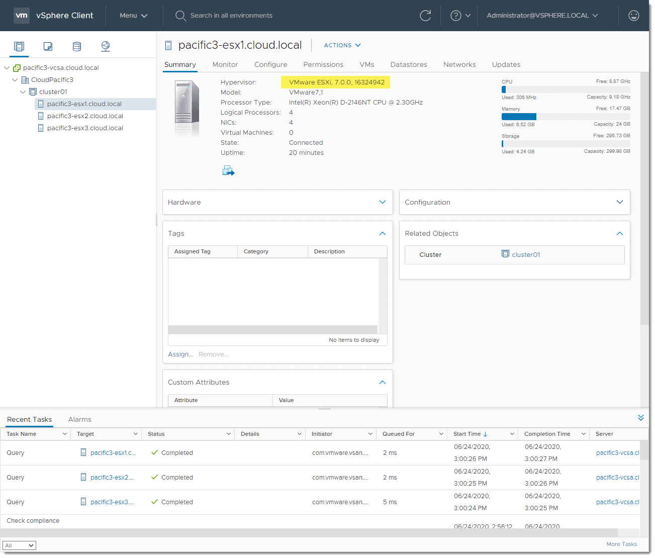Updating-all-ESXi-7.0-hosts-finishes-successfully-using-vSphere-Lifecycle-Manager Apply New ESXi 7.0 updates with vSphere Lifecycle Manager vLCM