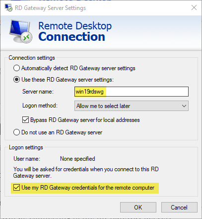 Use-the-RD-gateway-address-in-your-remote-desktop-connection Windows Server 2019 Remote Desktop Services without Domain