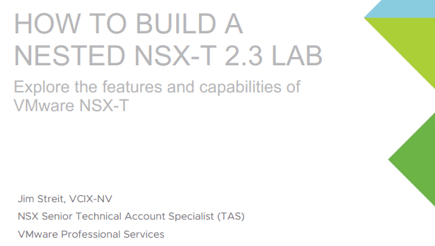 VMware-how-to-build-a-nested-NSX-T-2.3-lab-guide VMware NSX Home Lab Setup