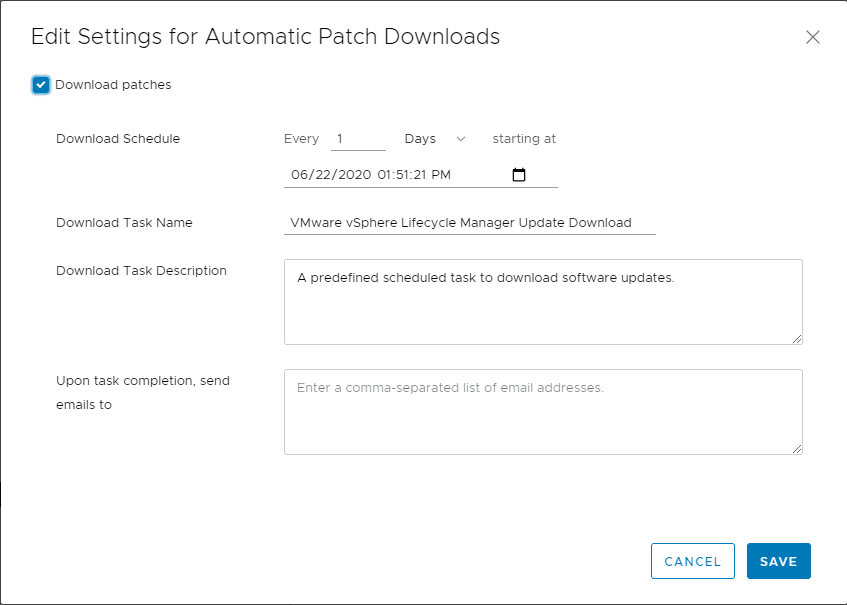 Viewing-and-changing-settings-for-Automatic-Patch-Downloads-in-vLCM What is vSphere Lifecycle Manager vLCM?