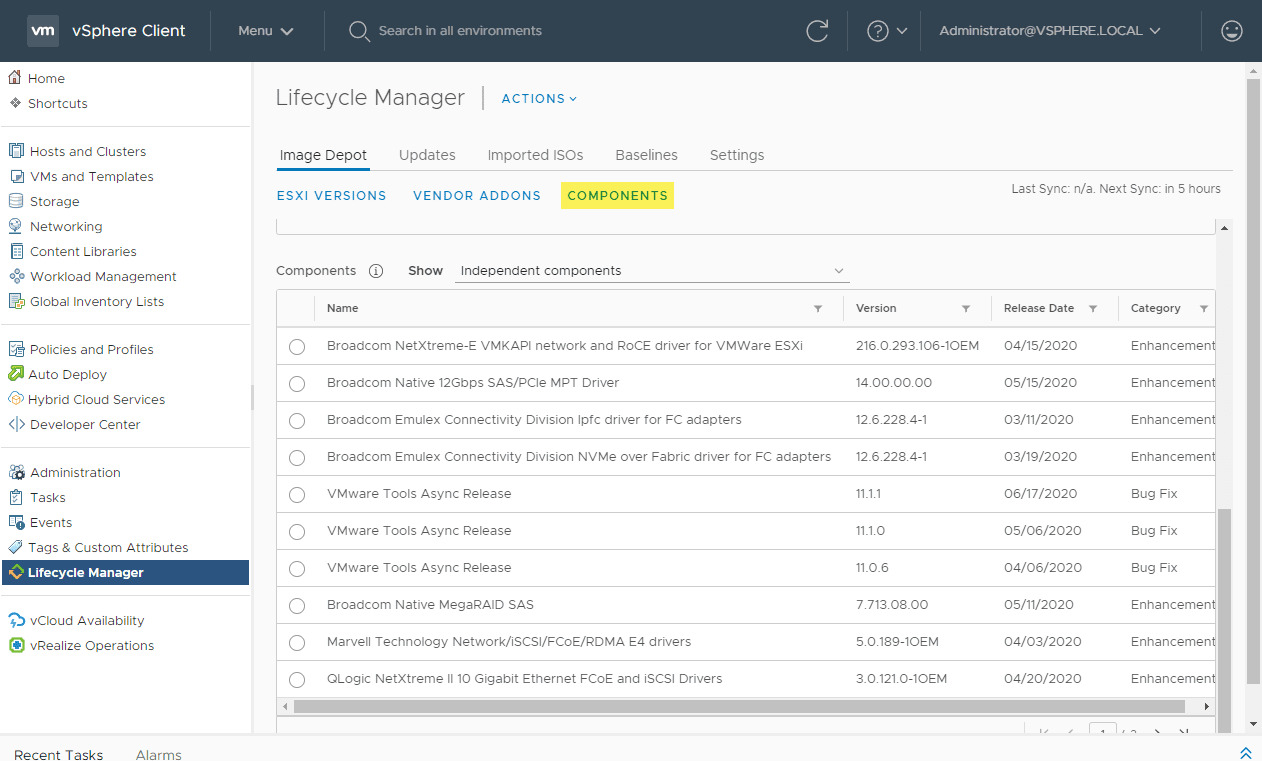 Viewing-the-vLCM-components What is vSphere Lifecycle Manager vLCM?