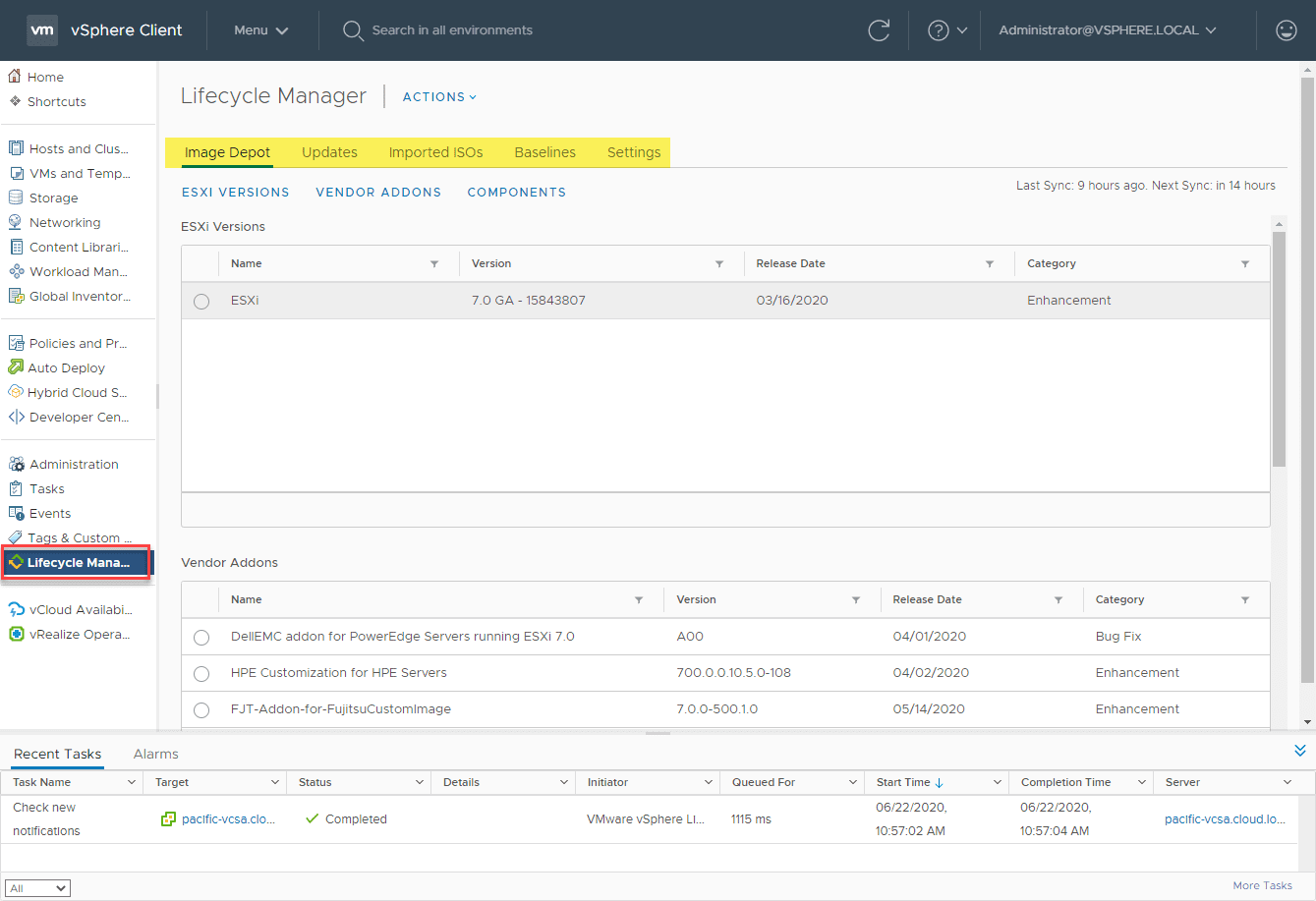 Viewing-the-vSphere-Lifecycle-Manager-vLCM-settings-in-vSphere-7 What is vSphere Lifecycle Manager vLCM?