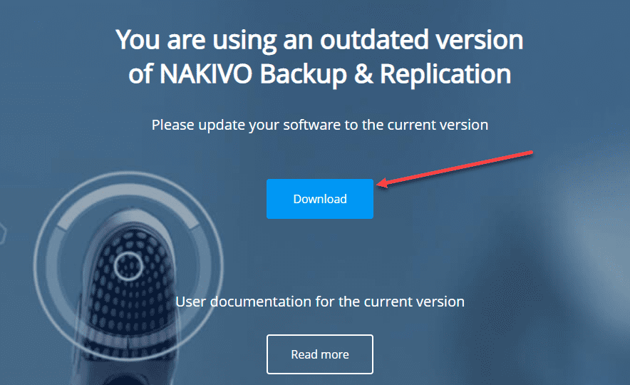 Download-the-update-file NAKIVO Backup and Replication v10 GA Download and Update