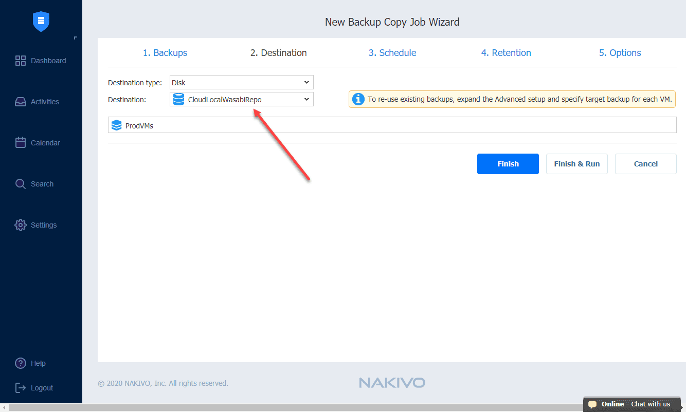 Targeting-the-new-Wasabi-repository-with-a-new-NAKIVO-copy-job