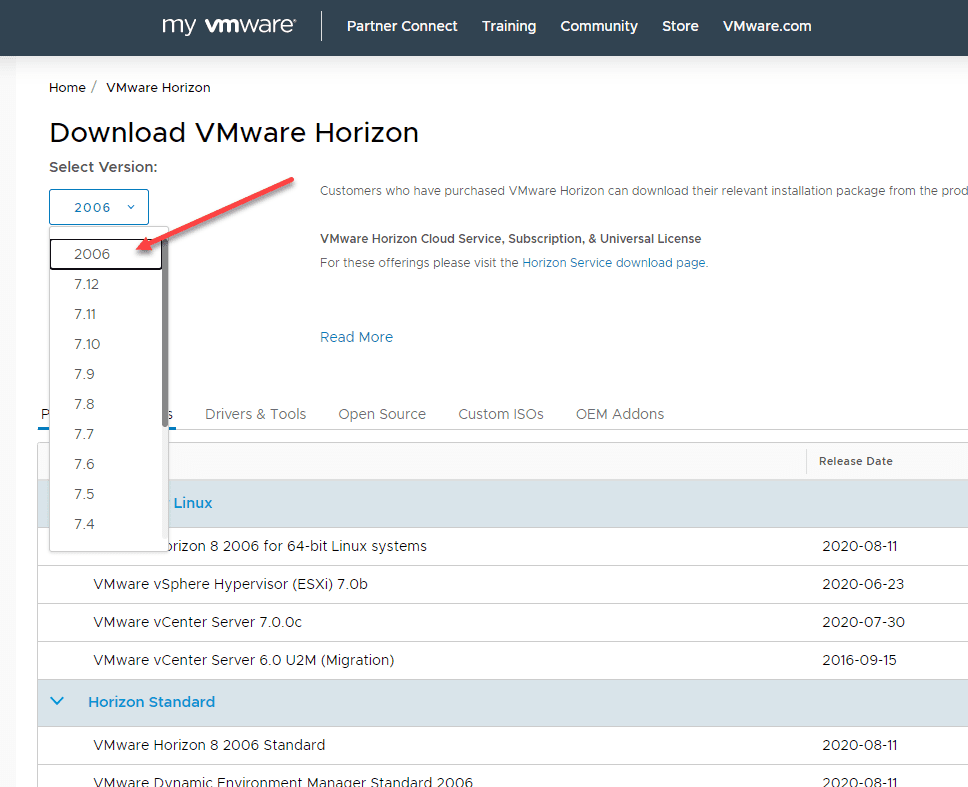 Downloading-the-new-VMware-Horizon-8-Connection-Server VMware Horizon 8 Upgrade Connection Servers