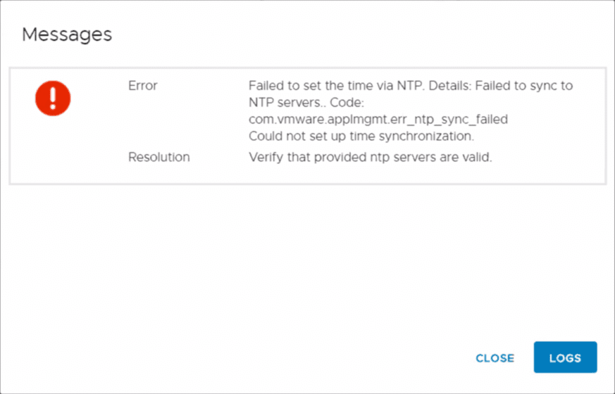 NTP-error-after-checking-the-prerequisites-before-Stage-2-of-the-upgrade-begins NTP Error Upgrading vCenter Server VCSA 6.7 to 7.0