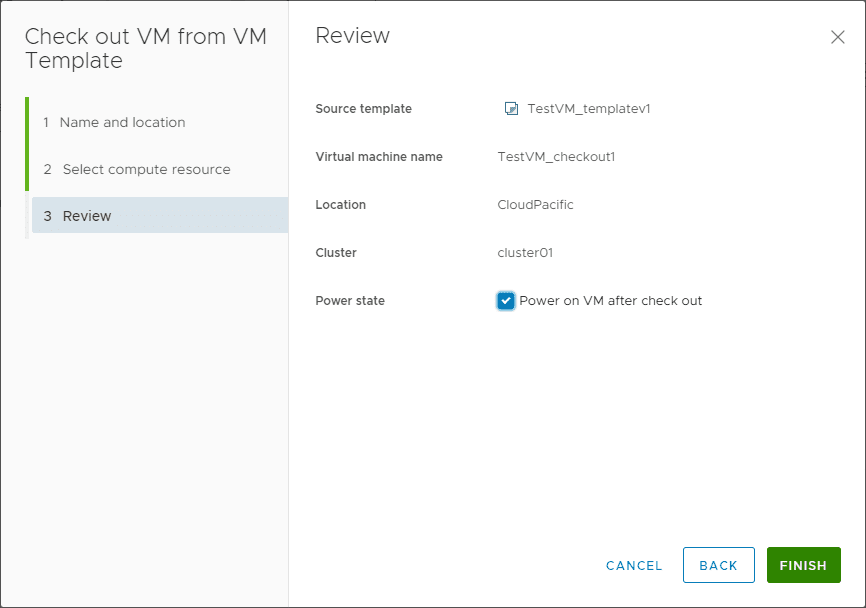 Review-the-check-out VMware vCenter 7 Content Library VM Template Versioning and Management