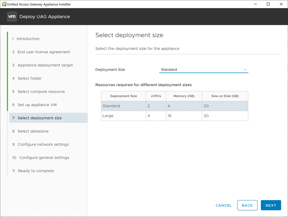 Select-the-Unified-Access-Gateway-deployment-size VMware Unified Access Gateway UAG 3.10 Upgrade
