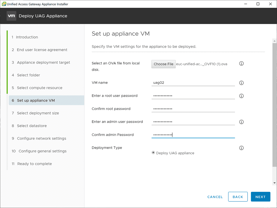 Setup-the-Unified-Access-Gateway-appliance-VM-including-passwords VMware Unified Access Gateway UAG 3.10 Upgrade