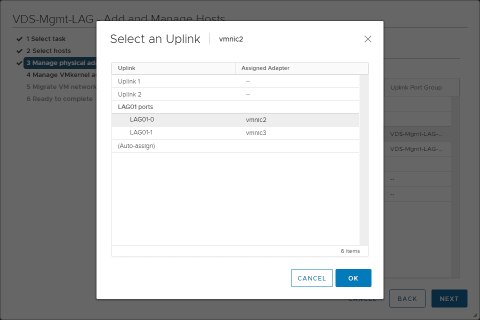 Assign-uplinks-to-the-LACP-enabled-LAG VMware LACP Load Balancing Mode in vSAN