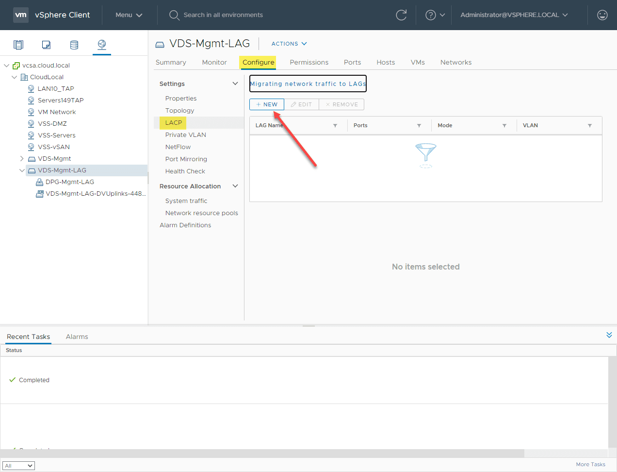 Creating-a-new-LACP-LAG-on-the-vSphere-distributed-switch VMware LACP Load Balancing Mode in vSAN