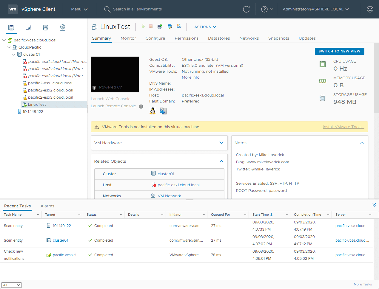 The-ESXi-preferred-cluster-hosts-quickly-show-not-responding VMware vSAN Stretched Cluster Failover