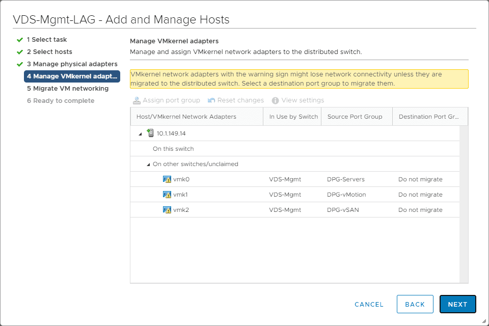 Wizard-notes-that-you-need-to-give-attention-to-your-VMkernel-adapters VMware LACP Load Balancing Mode in vSAN