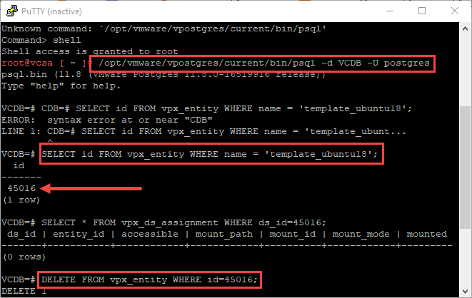 Deleting-a-disconnected-vSphere-template-from-the-vCenter-Server-PostgreSQL-DB Manually Remove disconnected vSphere template from vCenter