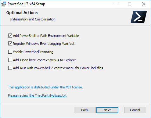 Additional-configuration-options-for-PowerShell-Core-installation