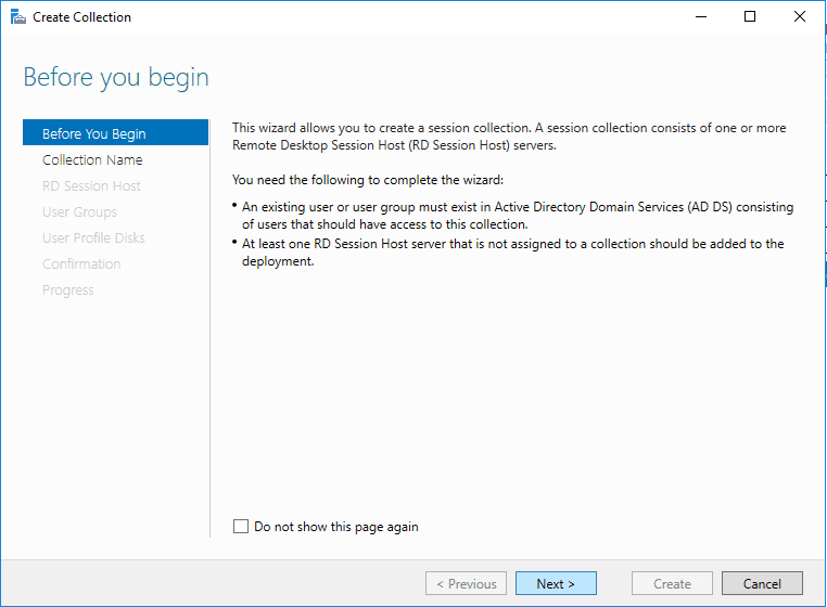 Beginning-to-create-a-collection-in-remote-desktop-services Windows Server 2016 Install Remote Desktop Services