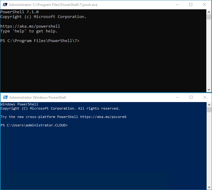Comparing-PowerShell-Core-and-Windows-PowerShell-prompts