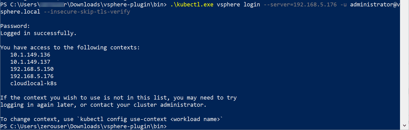 Login-to-Supervisor-Control-Plane-using-kubectl How to Create a vSphere with Tanzu Namespace