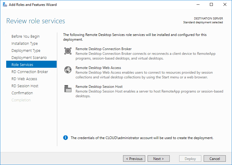 Reviewing-role-services-for-installing-Windows-Server-2016-Remote-Desktop-Services Windows Server 2016 Install Remote Desktop Services
