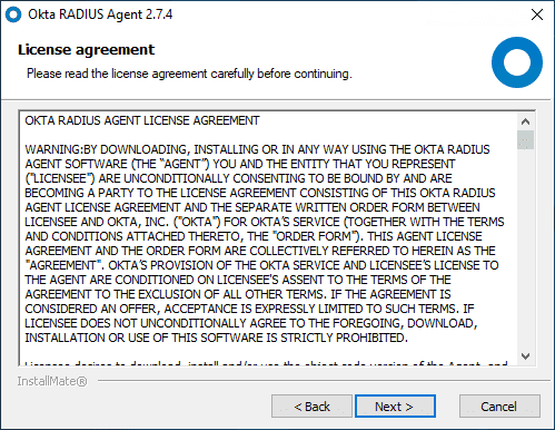 Accepting-the-EULA-for-the-RADIUS-Agent
