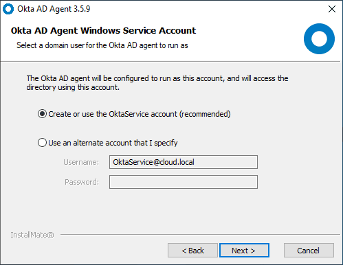 Configure-the-OKTA-AD-Agent-service-account