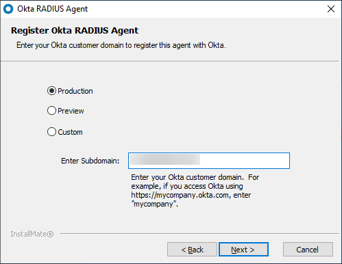 Enter-your-customer-domain-to-register-the-OKTA-RADIUS-Agent