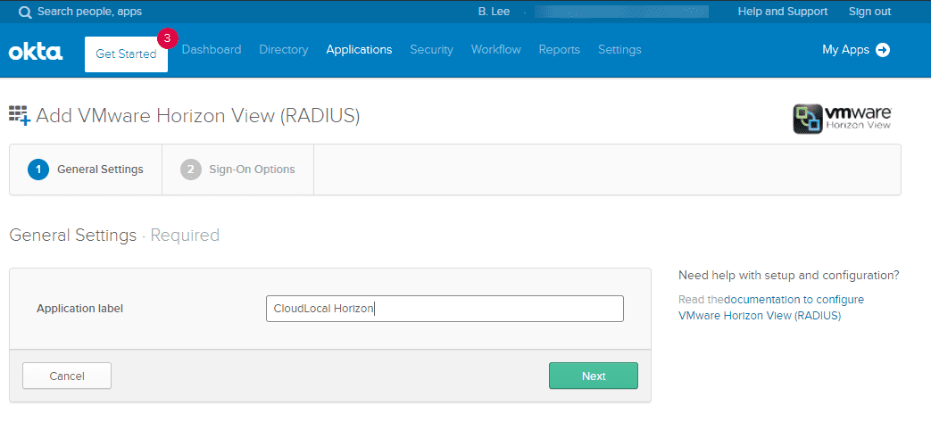 Name-your-VMware-Horizon-RADIUS-application-for-OKTA