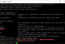 Leaving the vsan cluster from the command line